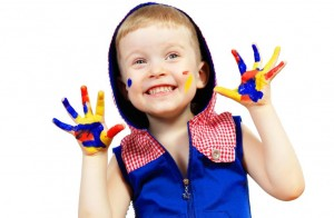 happy-child-with-paint-on-the-hands